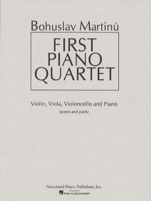 Bohuslav Martinu - First Piano quartet – Score + Parts - Partition - di-arezzo.fr