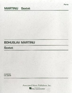 Bohuslav Martinu - Sextet - Strings - Parts - Sheet Music - di-arezzo.co.uk