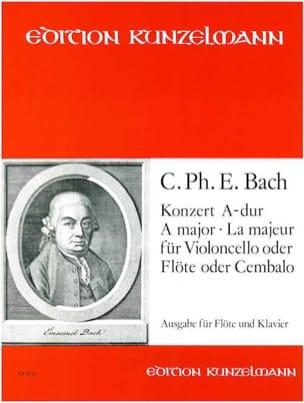 Konzert A-Dur für Flöte Carl Philipp Emanuel Bach laflutedepan