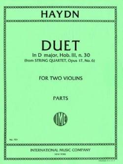 Joseph Haydn - Duet in D Major, Hob. 3 n° 30 - Partition - di-arezzo.fr