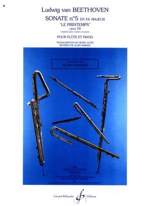 Sonate n° 5 en fa majeur op. 24 - Flûte piano laflutedepan