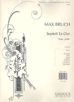Septett Es-Dur op. posth. - Stimmen BRUCH Partition laflutedepan