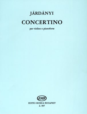 Pal Jardanyi - Concertino - Partition - di-arezzo.fr