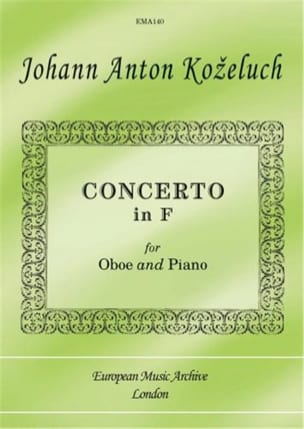 Johann Anton Kozeluch - Concerto In F - Sheet Music - di-arezzo.co.uk