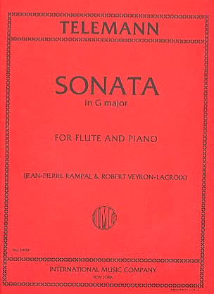 Sonata in G major - Flute piano - TELEMANN - laflutedepan.com