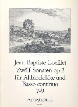 12 Sonaten op. 2 : n° 7-9 - Altblockflöten u. Bc LOEILLET laflutedepan