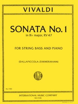 VIVALDI - Sonata No. 1 in B flat maj. RV 47 - String bass - Sheet Music - di-arezzo.co.uk