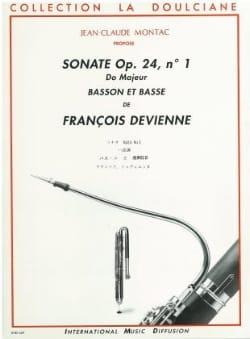 Sonate op. 24 n° 1 -Basson et basse DEVIENNE Partition laflutedepan