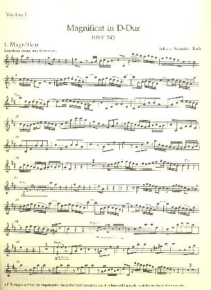 BACH - Magnificat D-Dur BWV 243 - Complete Material - Sheet Music - di-arezzo.com