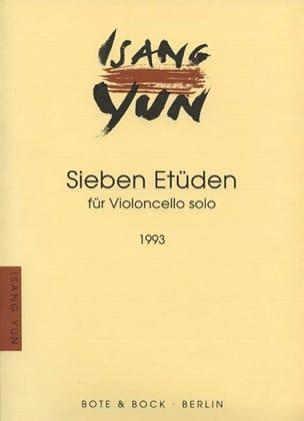 Sieben Etüden - Isang Yun - Partition - Violoncelle - laflutedepan.com