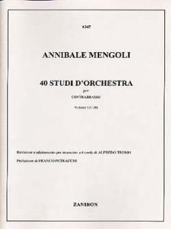 Annibale Mengoli - 40 Studi D'orchestra Volume 1 - Contrabbasso - Sheet Music - di-arezzo.com