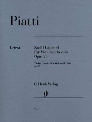 Alfredo C. Piatti - 12 Caprices Op. 25 For Solo Cello - Sheet Music - di-arezzo.co.uk