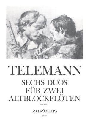6 Duos für 2 Altblockflöten 1752 TELEMANN Partition laflutedepan
