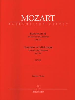 Klavierkonzert Es-Dur KV 449 –Conducteur - laflutedepan.com