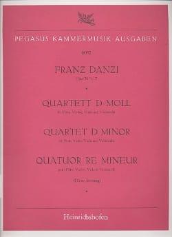 Franz Danzi - Quartett d-moll op 56 Nr. 2 –Flöte Violine Viola Violoncello - Stimmen - Partition - di-arezzo.fr