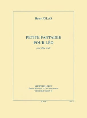 Betsy Jolas - Little fantasy for Leo - Sheet Music - di-arezzo.co.uk