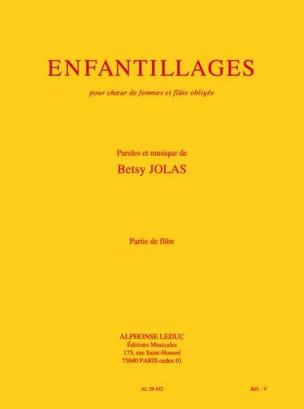 Betsy Jolas - Enfantillages – partie de flûte - Partition - di-arezzo.fr