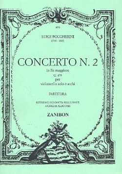 BOCCHERINI - Concerto n ° 2 Cello, re maggiore G. 479 - Sheet Music - di-arezzo.co.uk