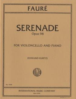 Sérénade op. 98 FAURÉ Partition Violoncelle - laflutedepan