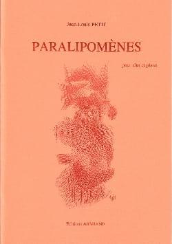 Jean-Louis Petit - Paralipomènes - Partition - di-arezzo.fr