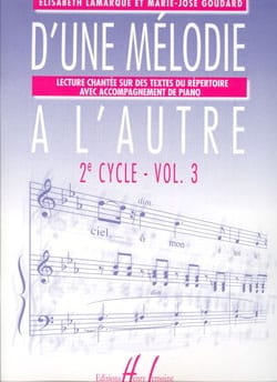 Elisabeth LAMARQUE et Marie-José GOUDARD - From one Melody to the other Vol. 3 - 2nd Cycle - Sheet Music - di-arezzo.co.uk