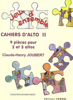 Claude-Henry Joubert - Cahiers d'alto 2 - Partition - di-arezzo.fr