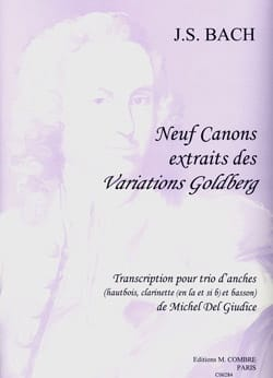 BACH - 9 Canons extr. des Variations Goldberg - Trio d'anches - Partition - di-arezzo.fr