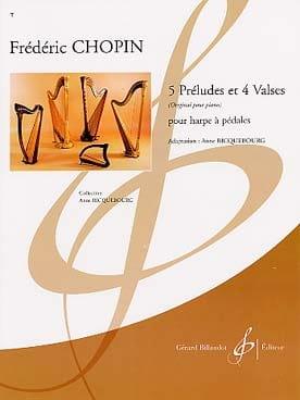 5 Préludes et 4 Valses Chopin Frédéric / Riquebourg laflutedepan