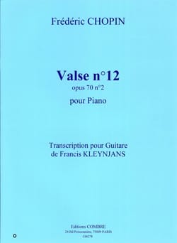 CHOPIN - Valse n° 12 op. 70 n° 2 - Guitare - Partition - di-arezzo.fr