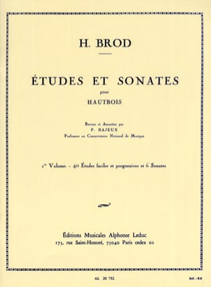 Henri Brod - Studies and Sonatas Volume 1 - Sheet Music - di-arezzo.co.uk