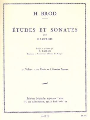 Henri Brod - Studies and Sonatas - Volume 2 - Sheet Music - di-arezzo.co.uk