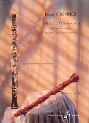 Concerto en Fa Majeur Opus 37 KROMMER Partition laflutedepan
