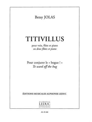 Betsy Jolas - Titivillus - Sheet Music - di-arezzo.com