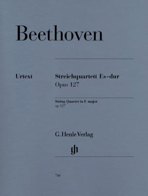 BEETHOVEN - String quartet in E flat major op. 127 - Sheet Music - di-arezzo.co.uk