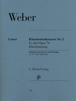 Carl Maria von Weber - Klarinettenkonzert Es-Dur Nr. 2 op. 74 - Sheet Music - di-arezzo.co.uk