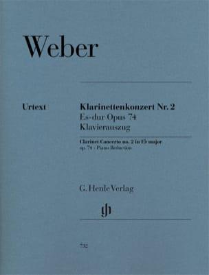 Carl Maria von Weber - Klarinettenkonzert Es-Dur Nr. 2 op. 74 - Sheet Music - di-arezzo.com