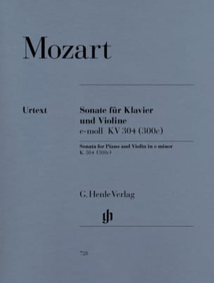 MOZART - Sonata in E Minor Kv 304 300c - Sheet Music - di-arezzo.com