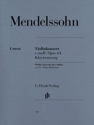 MENDELSSOHN - Violinkonzert e-moll op. 64 - Sheet Music - di-arezzo.co.uk