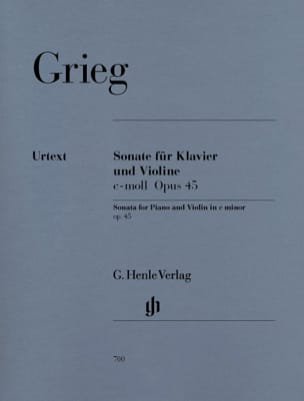 Edvard Grieg - Sonata op. 45 c-moll - Partition - di-arezzo.co.uk