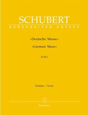 Deutsche Messe D. 872 - Partitur - SCHUBERT - laflutedepan.com