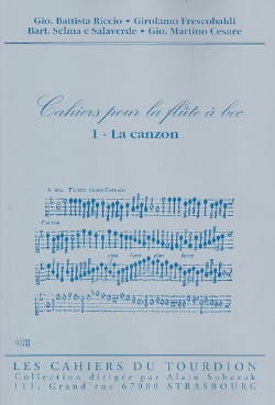 - Cahiers For the Recorder - N ° 1: Canzon - Sheet Music - di-arezzo.com