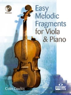 Colin Cowles - Easy Melodic Fragments - Viola - Partition - di-arezzo.fr