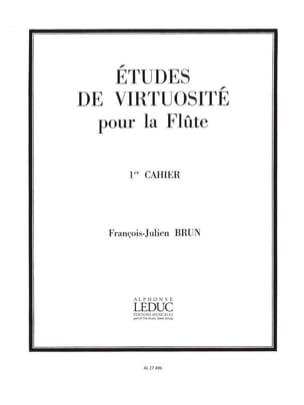François-Julien Brun - Etudes de virtuosité - 1er Cahier - Partition - di-arezzo.fr