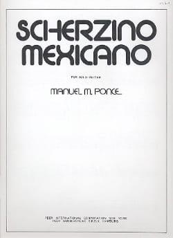 Manuel Ponce - Scherzino mexicano – Gitarre - Partition - di-arezzo.fr