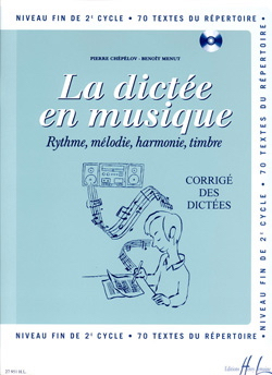 Pierre CHEPELOV et Benoit MENUT - The Dictation in Music - Answer Key - Volume 6 - Sheet Music - di-arezzo.co.uk