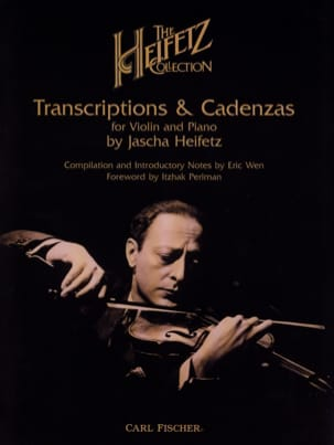 Jascha Heifetz - The Heifetz Collection, Volume 1 : Transcriptions and Cadenzas - Partition - di-arezzo.fr