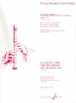 Concerto en Sib Majeur Opus 4 N° 6 - HAENDEL Partition laflutedepan