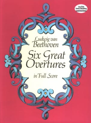 6 Great Overtures - Full Score BEETHOVEN Partition laflutedepan