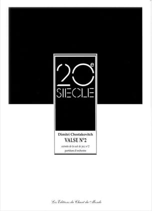 CHOSTAKOVITCH - Waltz No. 2 - Orchestra - Sheet Music - di-arezzo.com