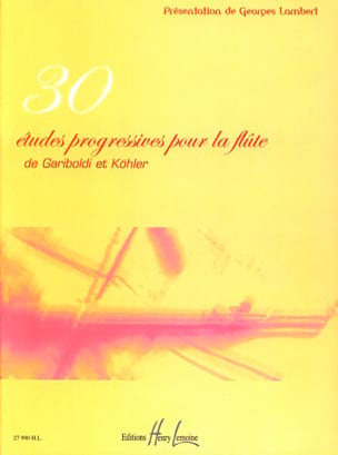Gariboldi Giuseppe / KÖHLER H. - 30 Progressive Studies for the Flute - Sheet Music - di-arezzo.com